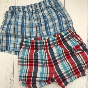 Other - BOYS 6-9MO PLAID SHORTS BUNDLE